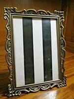 "Vintage Ornate Heavy Gold-Tone Metal Decorative Photo Frame 5""x 7"" Picture   D12"