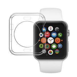 Coque de protection souple transparente pour Apple Watch 38/40/42/44mm