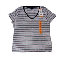 NWT Tommy Hilfiger Striped Tee T Shirt Womens Short Sleeve Pullover Top 2XL XXL