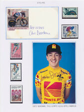 CHRIS BOARDMAN 1992 British Olympic champion cyclist autographs stamps