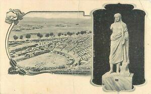 c1900 Theater Of Dionysus (Theatre De Dionise Avec Statue) Greece Postcard