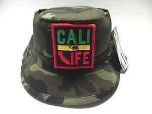 CALIFORNIA REPUBLIC CAMO VINTAGE BUCKET HAT CAP SIZE: ADULT L/XL  MANY COLORS