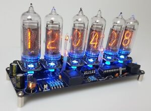 Nixie Clock Kit For IN-14 Nixie Tubes. PV Electronics Quality.Tubes Not Included