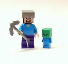 LEGO Minecraft Zombie Cave Steve & Baby Zombie Minifigure (21141)