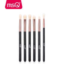 MSQ 6Pcs Eyeshadow Blending Makeup Brush Set Powder Foundation Eyeliner Brushes