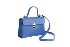 R. Horn Model Kate, Damen Leder Umhängetasche Schultertasche Tasche Blau neu