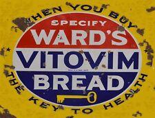 "TIN SIGN ""Ward's Vitovim Bread "" Food Art Deco Garage Wall Decor"