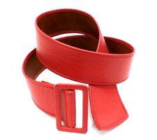 Womens Red Leather Belt Barnstorm Leathers Toronto Adjustable  M