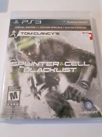 Tom Clancy's Splinter Cell Blacklist Sony PlayStation 3 PS3 2013 Special Edition