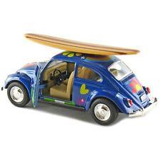 Kinsmart 1967 Volkswagen Beetle Decal w/Surfboard Diecast Model 1:32 VW BLUE