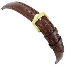 12mm Hirsch Ascot Tan Genuine Leather Padded Ladies Watch Band Regular