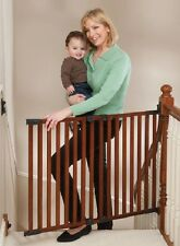 Wooden Angle Mounted Stairway Baby/Pet Safety Gate -  KidCo G2301, Cherry