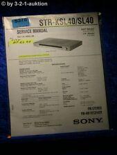 Sony Service Manual STR KSL40 /SL40 FM/AM Receiver (#5378)