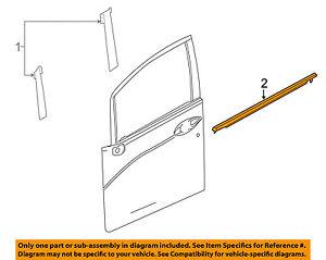 HONDA OEM 15-17 Fit-Door Window Sweep-Belt Molding Weatherstrip Left 72450TD4003