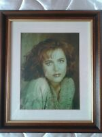Gillian Anderson Scully X-files Signed Autographed Framed Photo 100% Authentic