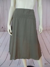 Banana Republic Skirt 0 Cotton Army Green Khaki Raw Edge Hem ALine Paneled
