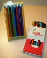 Lot of 24 Vintage Colored Pencils (Reliance, Mongol), Never Used