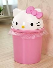 """Cute For Hello Kitty 13"""" Height Home Trash Can Waste Garbage Bin Wastebaskets"""