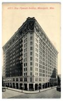 Early 1900s New Plymouth Building, Minneapolis, MN Postcard