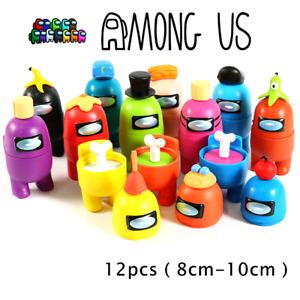 12pcs Among Us Games Action Figures Figurines Set Cake Topper Decor Kids Toy