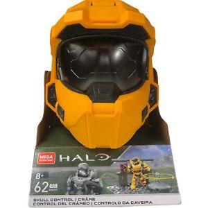 Mega Construx Halo Skull Control GWY99 Yellow Spartan Helmet New. Free Shipping!