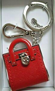 NIB MICHAEL MICHAEL KORS BAG CHARMS Key Chain Key Fob In VARIOUS COLORS & Styles