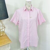 RM Williams Womens Nicole Shirt Pink Floral Short Sleeve Button Down Size 16 NWT