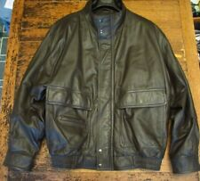VTG MEMBERS ONLY BOMBER LEATHER JACKET MENS L BROWN TOP QUALITY NO FLAWS