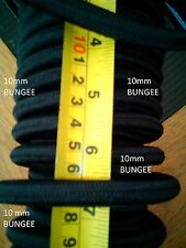 per 1m , 1mtr 1 meters - 10mm  Black Bungee Rope / Shock Cord