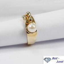 Ring in 333 Gold mit Zuchtperle