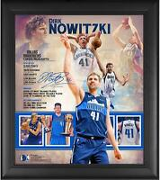 "Dirk Nowitzki Dallas Mavericks Framed 15"" x 17"" Retirement Collage - Fanatics"