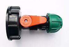IBC Adaptador (S60X6) para PP Válvula de bola y 20 mm Tubo Montaje. Mdpe de compresión