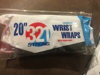 """321 Strong 20"""" Premium Quality Wrist Wraps With Thumb Loops"""