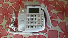 ITEK BIG BUTTON HANDS FREE LCD TELEPHONE WITH CALLER ID WHITE – 62002