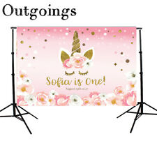 Pink Flower Newborn Backdrop Cartoon Unicorn Photography Background Studio Props