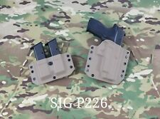 SIG SAUER P226 Kydex Holster Outside Waistband&Double Mag Pouch Flat Dark Earth