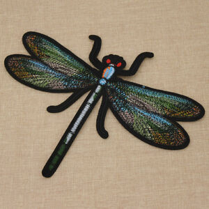 Dragonfly Embroidery Sew On Iron On Patches Badge Clothes Bag Fabric Applique