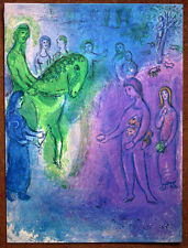 "CHAGALL original litho 70's DAPHNIS & CHLOE, ""THE ARRIVAL OF DIONYSOPHANES"" #191"