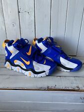 Nike Air Barrage Mid Warriors Men's Basketball Shoes Rams Blue Yellow size 8