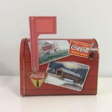 Coca Cola Coke Tin Letter Box Container - Very Good Condition
