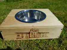 Reclaimed wooden wine box PET FEEDER BOWL / Station for dogs & cats - Small