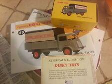 dinky atlas camion ford baché grands moulin de paris fiche et certificat
