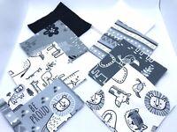 "48 Piece 5"" Inch Flannel Charm Pack, Precut Squares - Sweet Safari Zoo Animals"