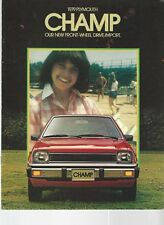 1979 Plymouth Champ Sales Brochure Book Mitsubishi Colt