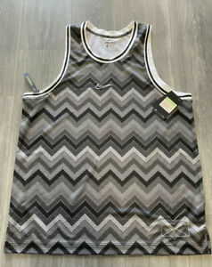 NWT Nike Men's XL Dri-FIT Sleeveless Top Tank Jersey Black Gray White