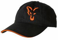 New Fox Black & Orange Baseball Cap - CPR925 - One Size - Carp Fishing Hats