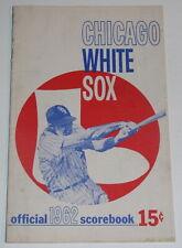 1962 Chicago White Sox Program vs Indians Scored