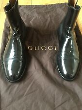 Gucci Men's Shoes Black Leather Chelsea Dealer Boots UK 7.5 US 8.5 EU 41.5 mint