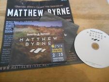 CD Folk Matthew Byrne-Hearts & Heroes (13) canzone PRIVATE PRESS Digi/Insert
