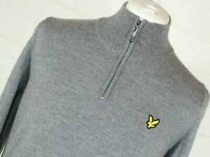 LYLE & SCOTT Golf Jumper Zip Up XL Snug ROYAL LYTHAM Smart Casual Made In ITALY